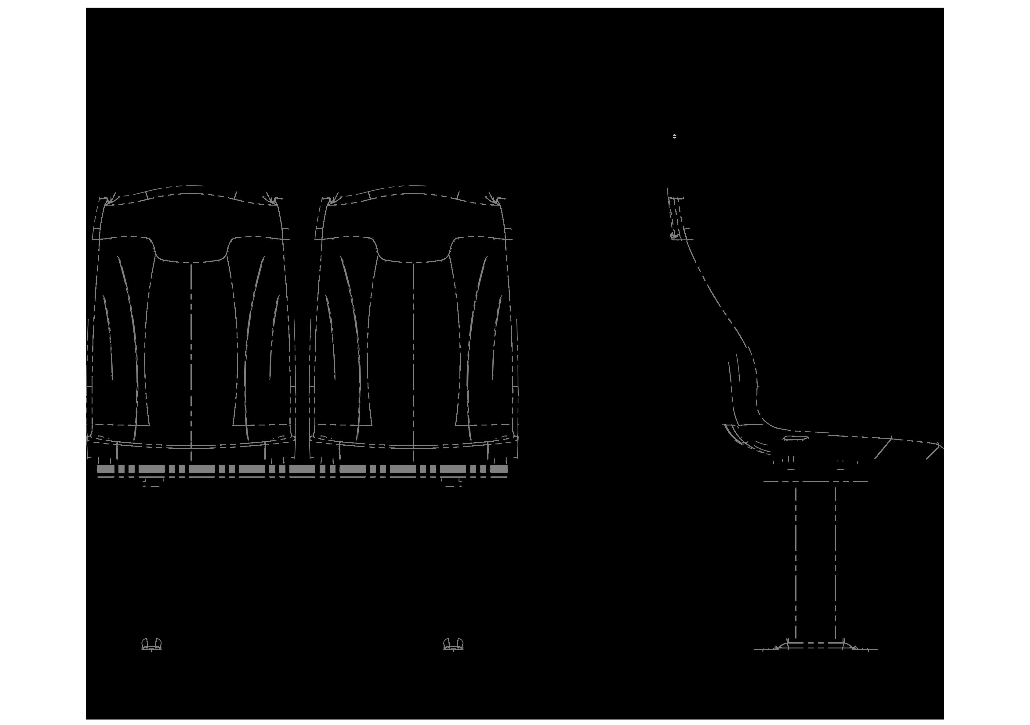 GS132(kumaşlı) teknik çizimi